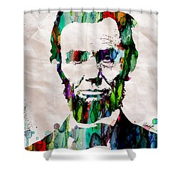 Abraham Lincoln Art Watercolor Shower Curtain