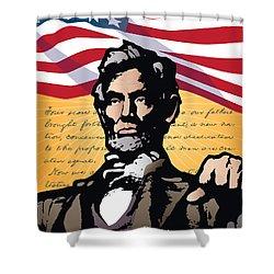 Abraham Lincoln, Gettysburg Address Shower Curtain