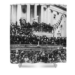 Abraham Lincoln Gives His Second Inaugural Address - March 4 1865 Shower Curtain