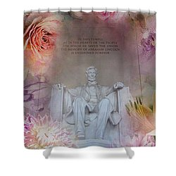 Abraham Lincoln Memorial At Spring Shower Curtain by Marianna Mills