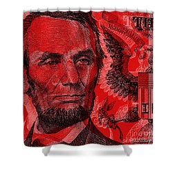 Abraham Lincoln Pop Art Shower Curtain