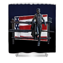 Abraham Lincoln Shower Curtain by Thomas Woolworth