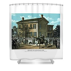 Abraham Lincoln's Return Home Shower Curtain by War Is Hell Store