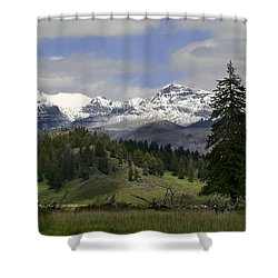 Absaroka Mts Wyoming Shower Curtain
