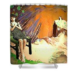 Absent Love Shower Curtain by Miki De Goodaboom