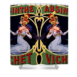 Absinthe Lady Ad Shower Curtain by Marianne Dow