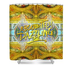 Absolutely Dazzling Hall Of Mirrors Versailles Palace Paris Shower Curtain