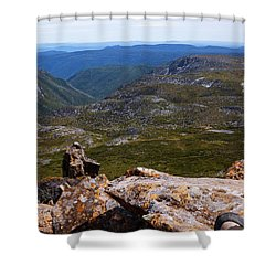 Absorbing The Moment Shower Curtain by Lexa Harpell