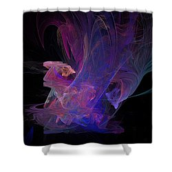 Abstact Pink Swan Shower Curtain