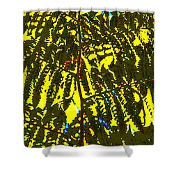 Abstract - Dappled Light Shower Curtain