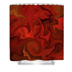 Abstract - Rich Rusts Shower Curtain