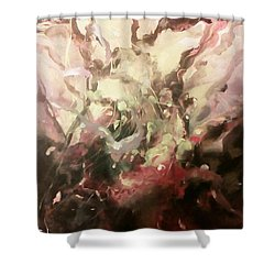 Abstract #01 Shower Curtain