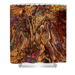 Shower Curtain featuring the digital art Abstract 013116 by Matt Lindley