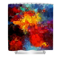 Shower Curtain featuring the digital art Abstract 034 by Rafael Salazar