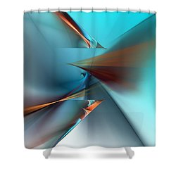 Abstract 040411 Shower Curtain by David Lane