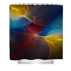 Abstract 060410 Shower Curtain by David Lane