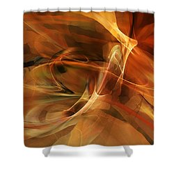 Abstract 060812a Shower Curtain by David Lane