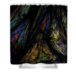 Abstract 10-08-09-1 Shower Curtain by David Lane