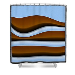 abstract 10 2 Triptych Shower Curtain