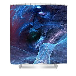 Abstract 111610 Shower Curtain by David Lane