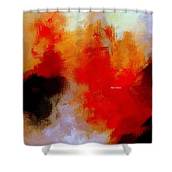 Shower Curtain featuring the digital art Abstract 1909f by Rafael Salazar