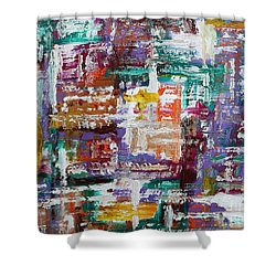 Abstract 193 Shower Curtain by Patrick J Murphy