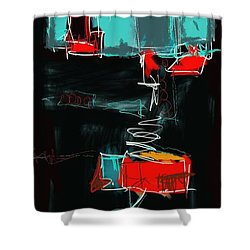 Abstract - 21nov2016 Shower Curtain by Jim Vance