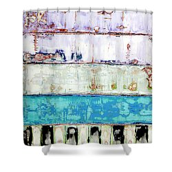 Shower Curtain featuring the painting Art Print Abstract 31 by Harry Gruenert