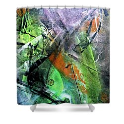 Abstract #321 Shower Curtain