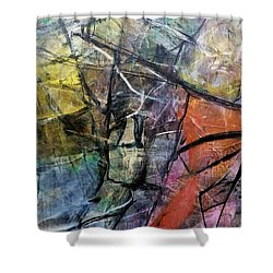 Abstract #322 Shower Curtain