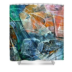 Abstract #326 Shower Curtain