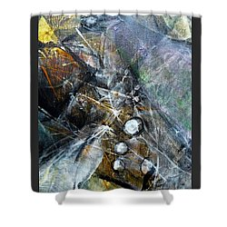 Abstract #328 Shower Curtain