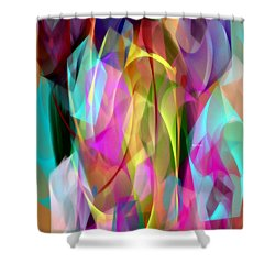 Shower Curtain featuring the digital art Abstract 3366 by Rafael Salazar
