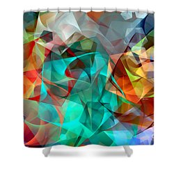 Shower Curtain featuring the digital art Abstract 3540 by Rafael Salazar