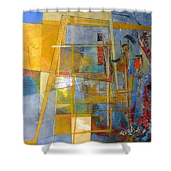 Abstract #38 Shower Curtain by Robert Anderson