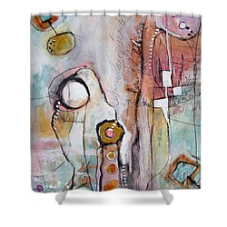 Abstract 39 Shower Curtain by Karin Husty
