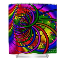 Abstract 523 Shower Curtain