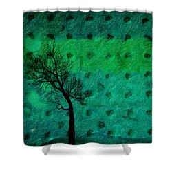 Abstract #7 Shower Curtain