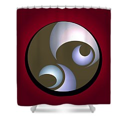 Abstract 8 2017 Shower Curtain