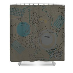 Abstract 8 Brown Shower Curtain