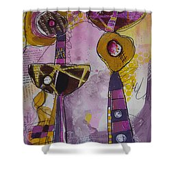 Abstract 86 Shower Curtain