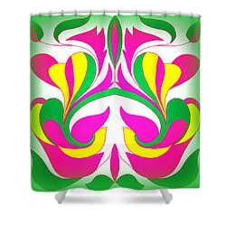 The Pink Flower Shower Curtain