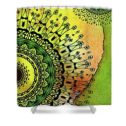 Abstract Acrylic Art The Garden Shower Curtain by Saribelle Rodriguez
