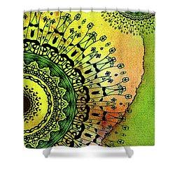 Abstract Acrylic Art The Garden Shower Curtain