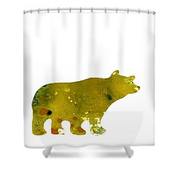 Abstract Acrylic Painting Bear II Shower Curtain by Saribelle Rodriguez