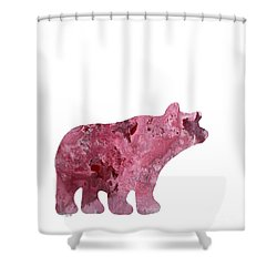 Abstract Acrylic Painting Bear Shower Curtain by Saribelle Rodriguez