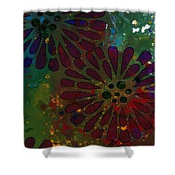 Abstract Acrylic Painting Colorful Spring I Shower Curtain