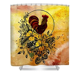 Abstract Acrylic Painting Rooster Shower Curtain