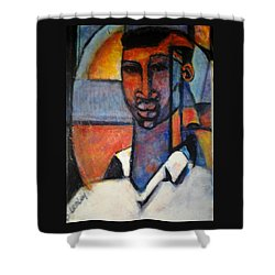 Abstract African Shower Curtain