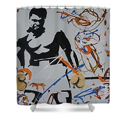Abstract Ali Shower Curtain